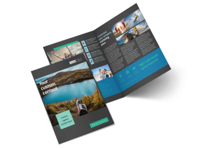 World Travel Agent Bi-Fold Brochure Template 2