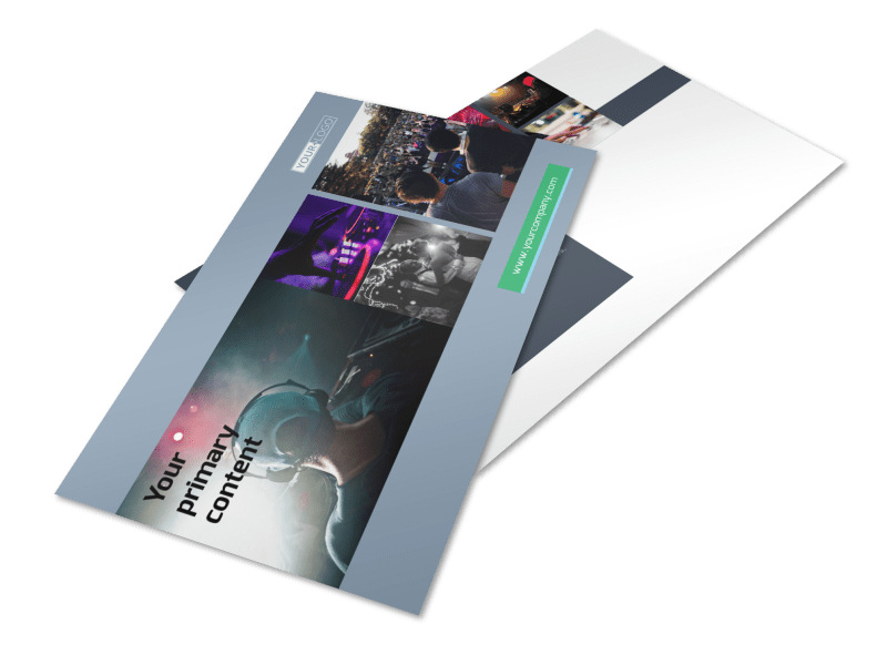 DJ Service Postcard Template 2