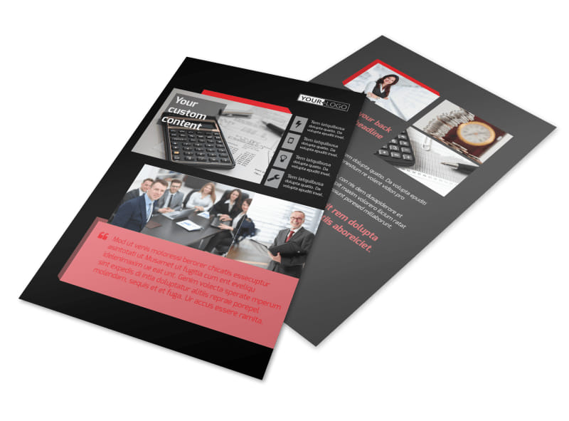 Accounting Bookkeeping Firm Flyer Template