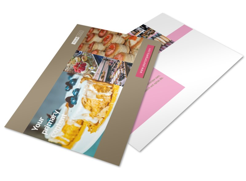 Pastry Catering Postcard Template 2