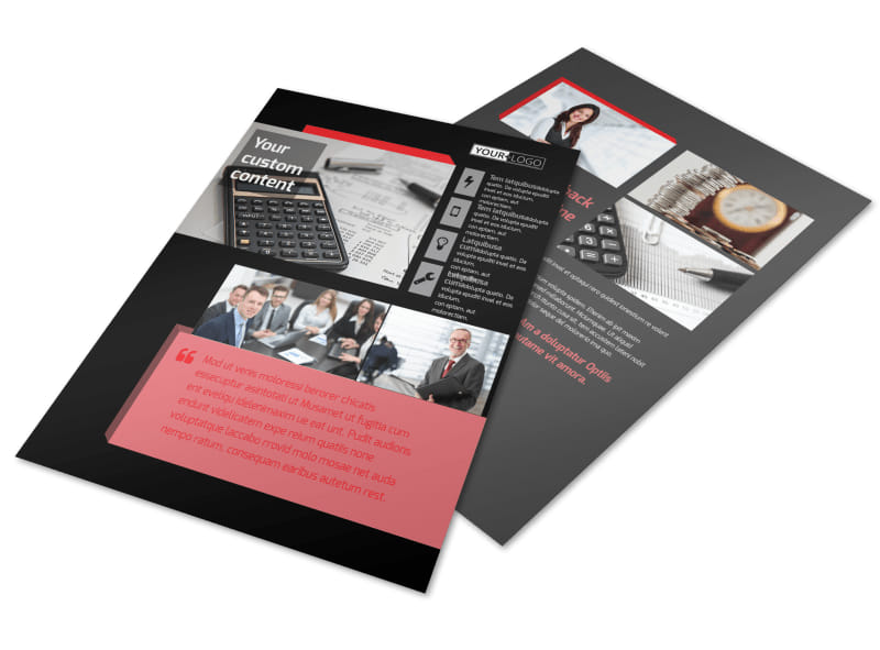 Accounting Bookkeeping Firm Flyer Template Mycreativeshop
