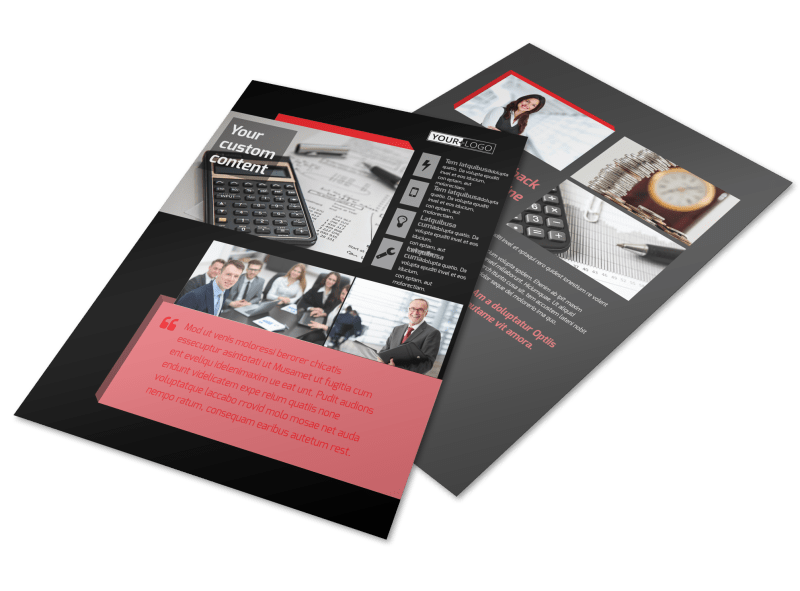 Accounting & Bookkeeping Firm Flyer Template Preview 1