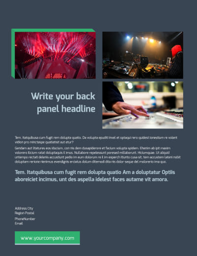 DJ Service Flyer Template Preview 2