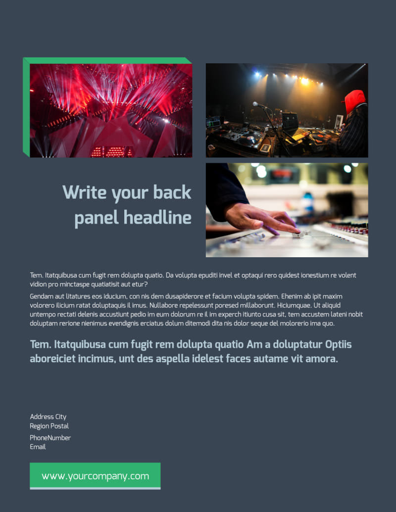 DJ Service Flyer Template Preview 3