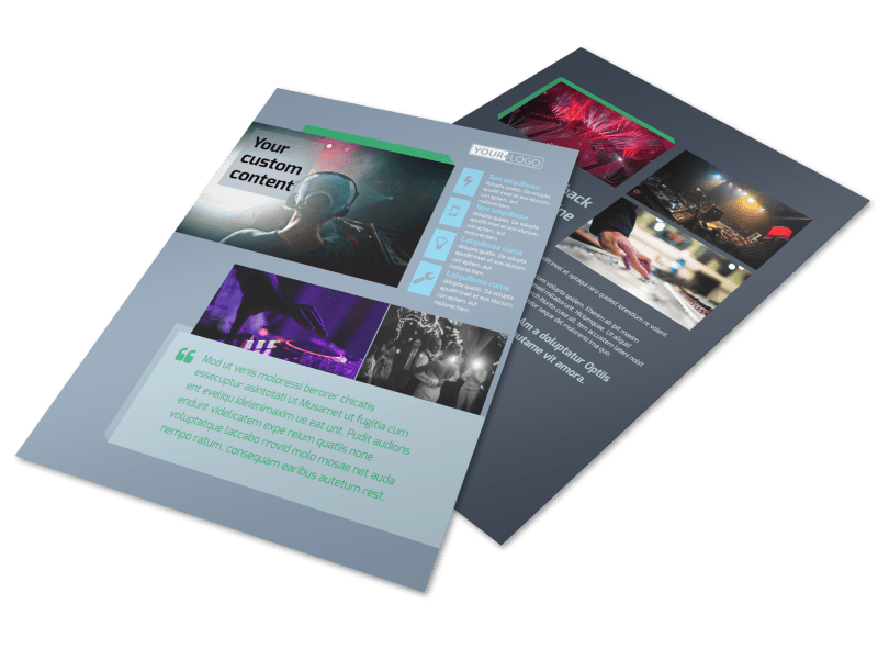 DJ Service Flyer Template Preview 1
