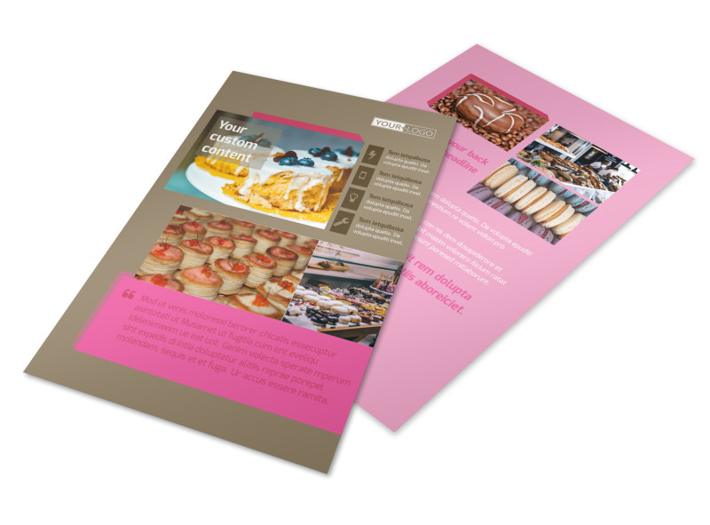 Pastry Catering Flyer Template 3