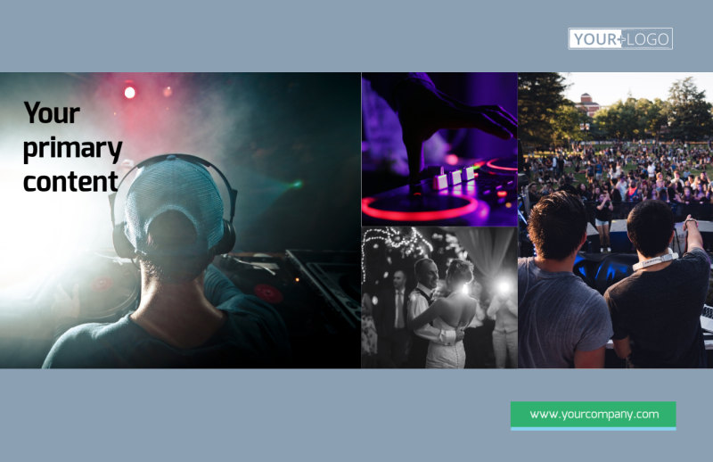 DJ Service Postcard Template Preview 2