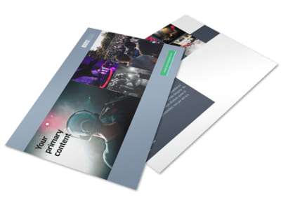 DJ Service Postcard Template