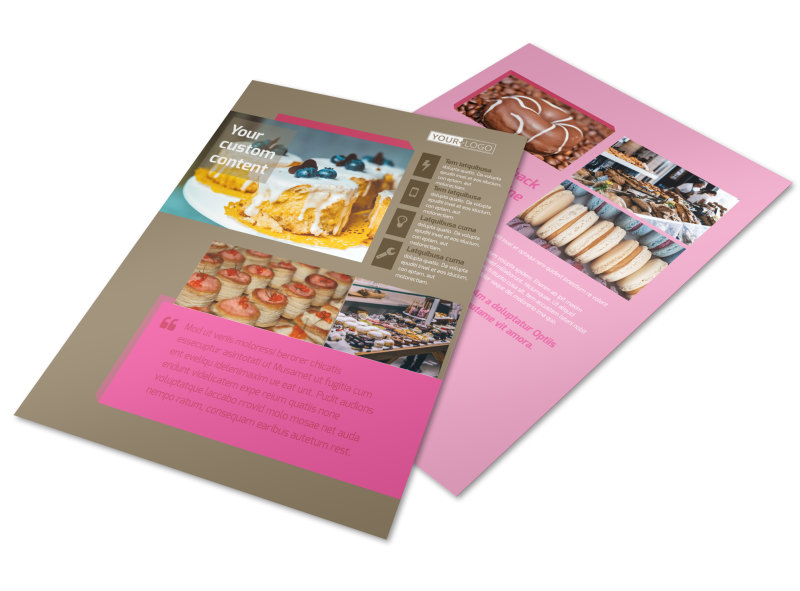 Pastry Catering Flyer Template | MyCreativeShop