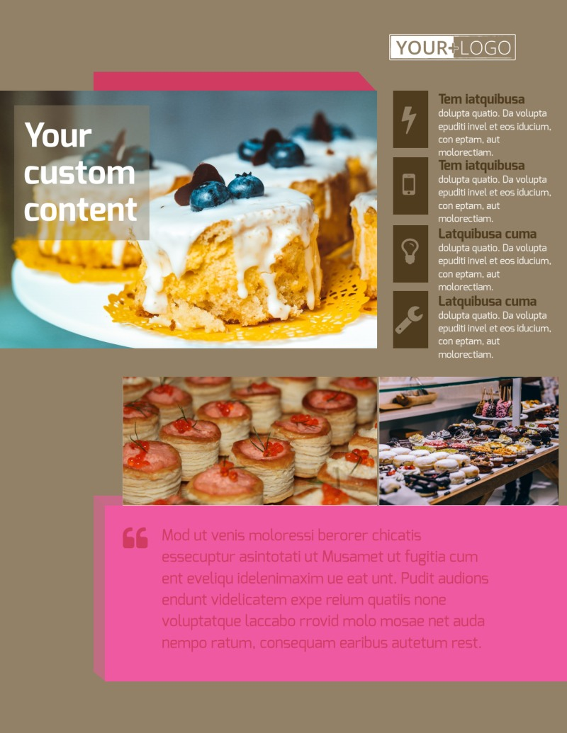 Pastry Catering Flyer Template Preview 2