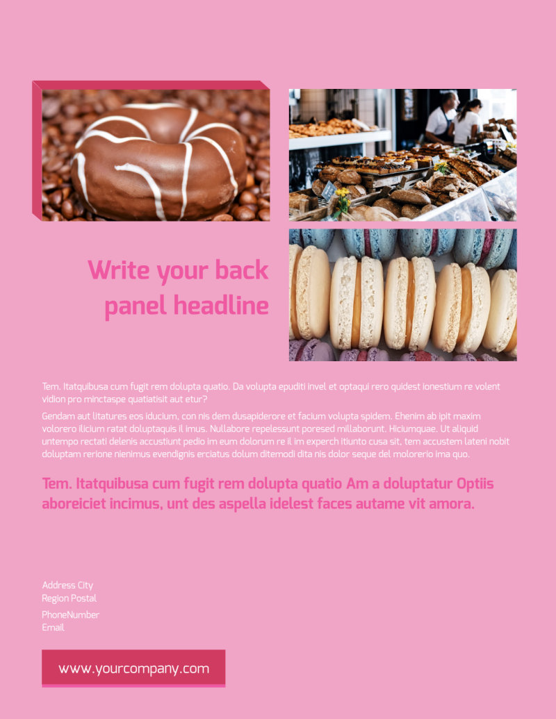 Pastry Catering Flyer Template Preview 3