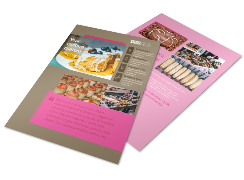 Pastry Catering Flyer Template Preview 1