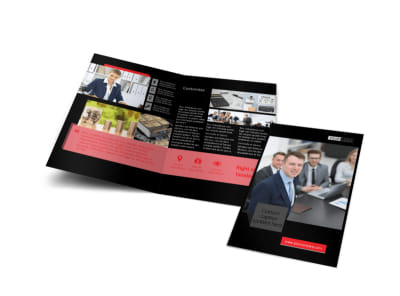 CPA & Tax Accountant Bi-Fold Brochure Template preview
