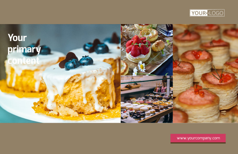 Pastry Catering Postcard Template Preview 2