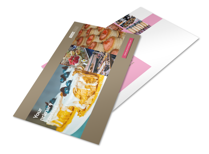 Pastry Catering Postcard Template Preview 1