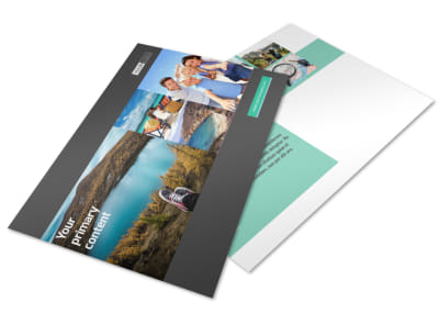 World Travel Agent Postcard Template preview
