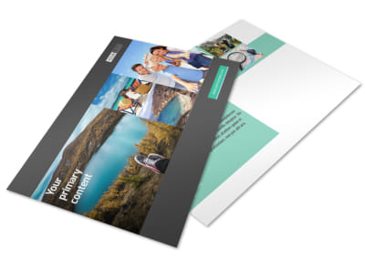 World Travel Agent Postcard Template
