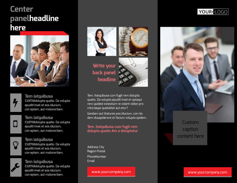 Accounting & Bookkeeping Firm Brochure Template Preview 2