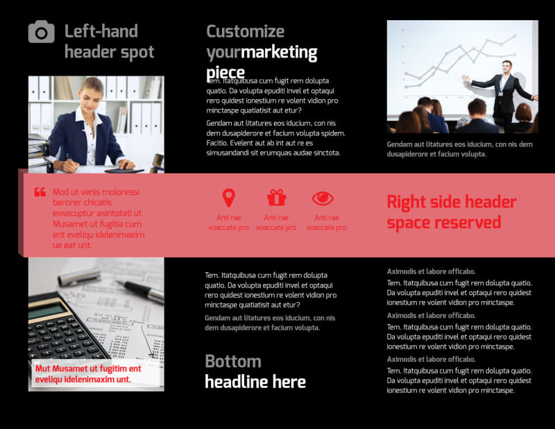 Accounting & Bookkeeping Firm Brochure Template Preview 3