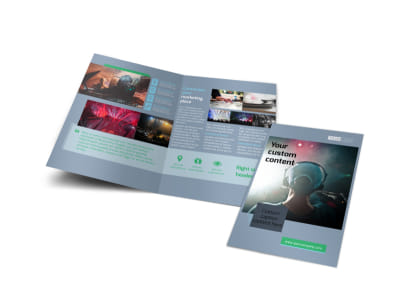 DJ Service Bi-Fold Brochure Template preview