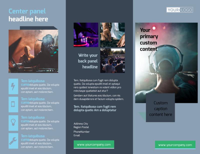 DJ Service Brochure Template Preview 2