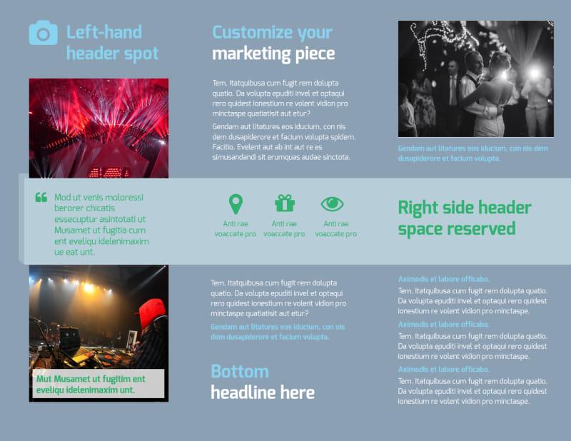 DJ Service Brochure Template Preview 3