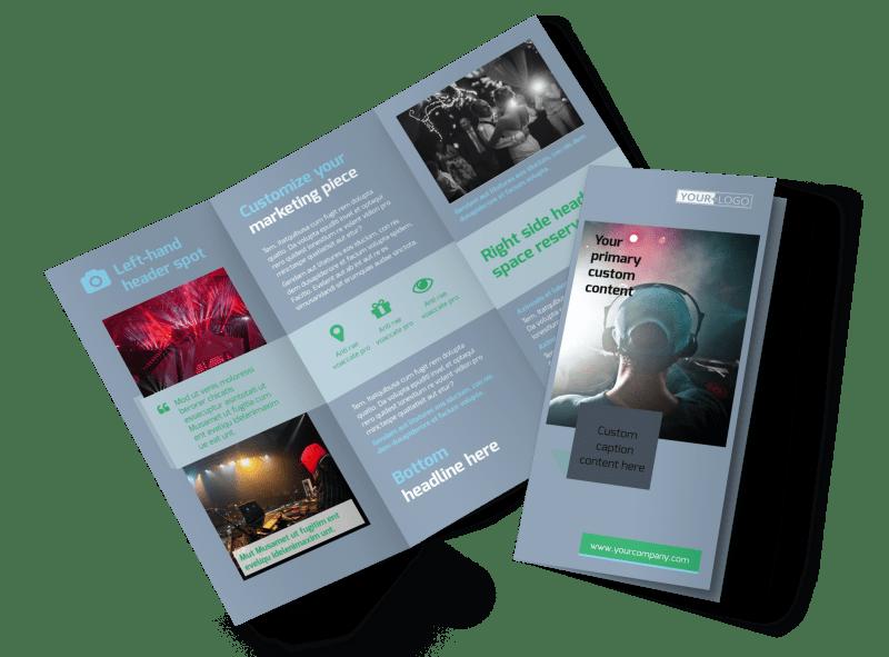 DJ Service Brochure Template Preview 1