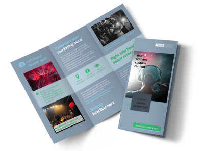 DJ Service Tri-Fold Brochure Template preview
