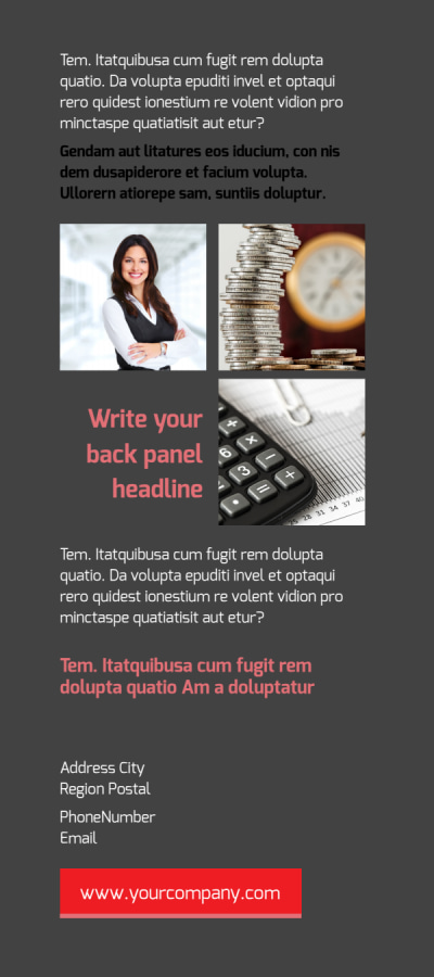 Accounting & Bookkeeping Firm Flyer Template Preview 2