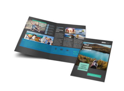 World Travel Agent Bi-Fold Brochure Template preview
