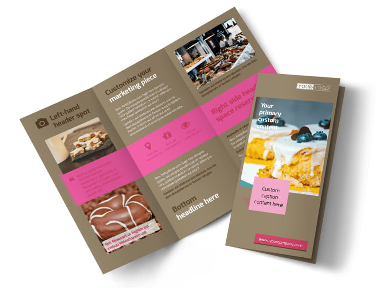 Pastry Catering Tri-Fold Brochure Template