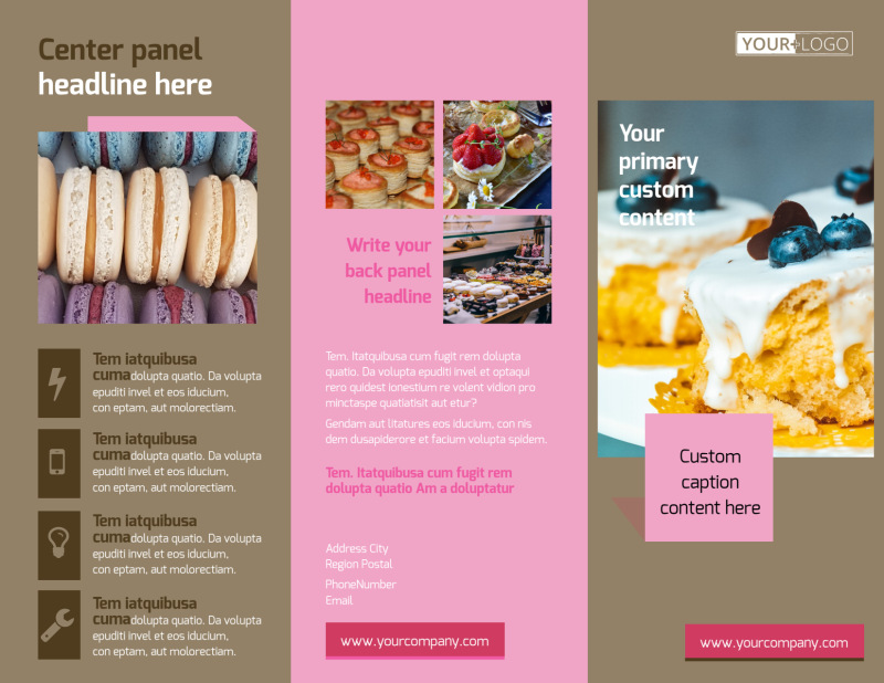 Pastry Catering Brochure Template Preview 2