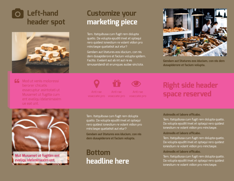 Pastry Catering Brochure Template Preview 3