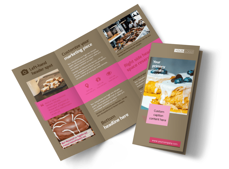 Pastry Catering Brochure Template Preview 1