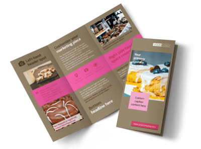 Pastry Catering Tri-Fold Brochure Template preview