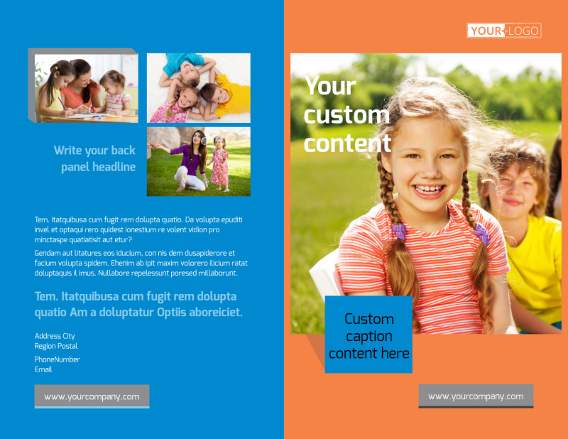 Babysitting Brochure Template Preview 2