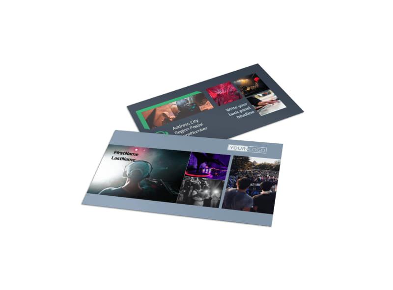DJ Service Business Card Template