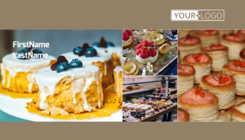 Pastry Catering Business Card Template Preview 2
