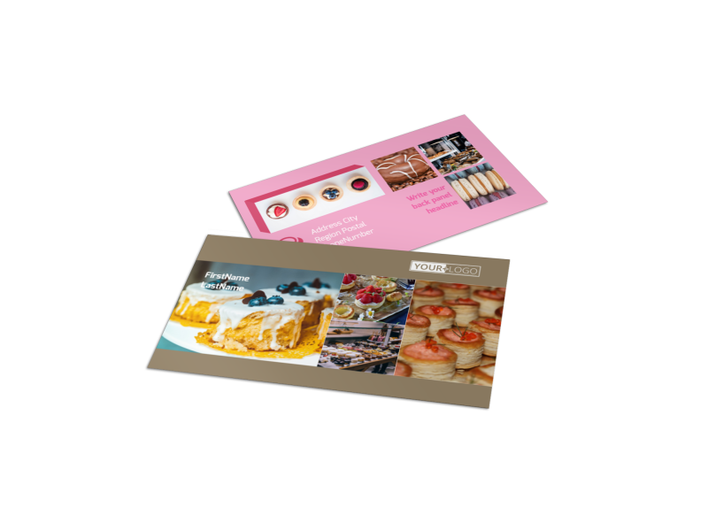 Pastry Catering Business Card Template Preview 1