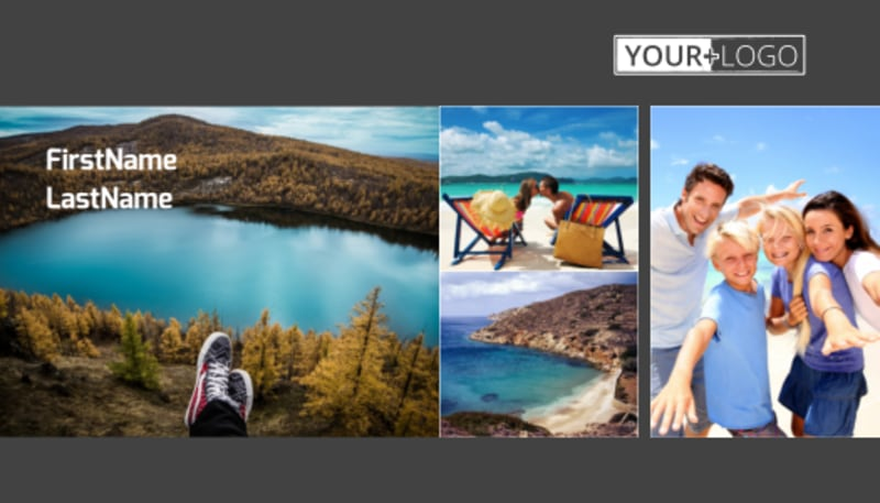 World Travel Agent Business Card Template Preview 2