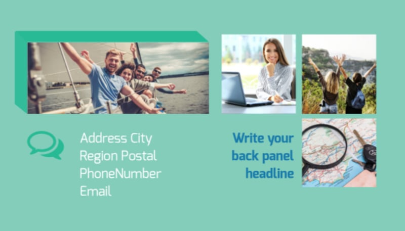 World Travel Agent Business Card Template Preview 3