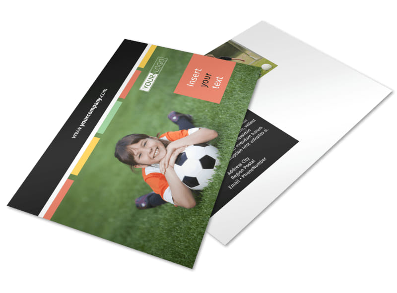 Soccer Sports Camp Postcard Template 2