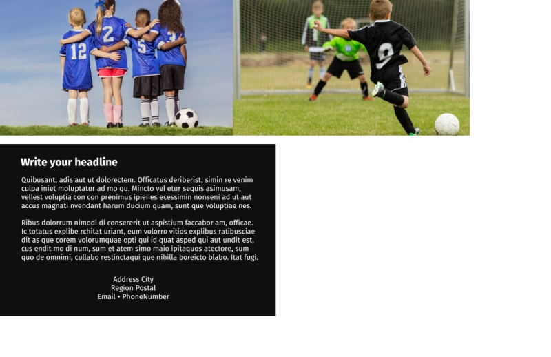 Soccer Camp Postcard Template Preview 3