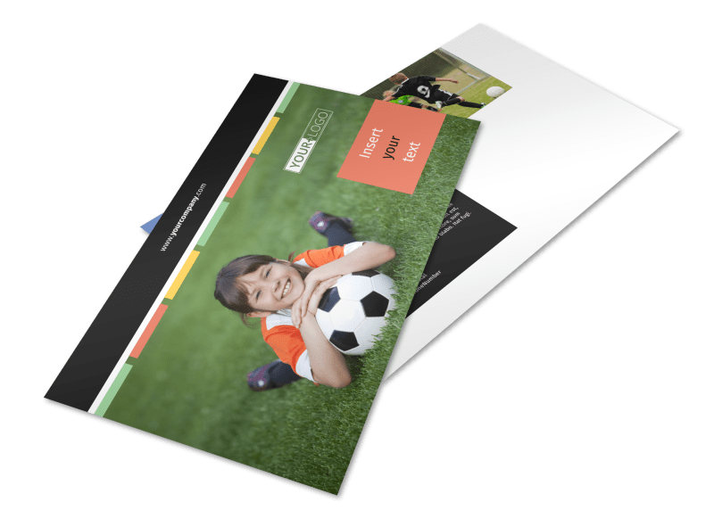 Soccer Camp Postcard Template Preview 1