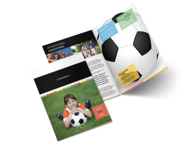 Soccer Sports Camp Bi-Fold Brochure Template 2