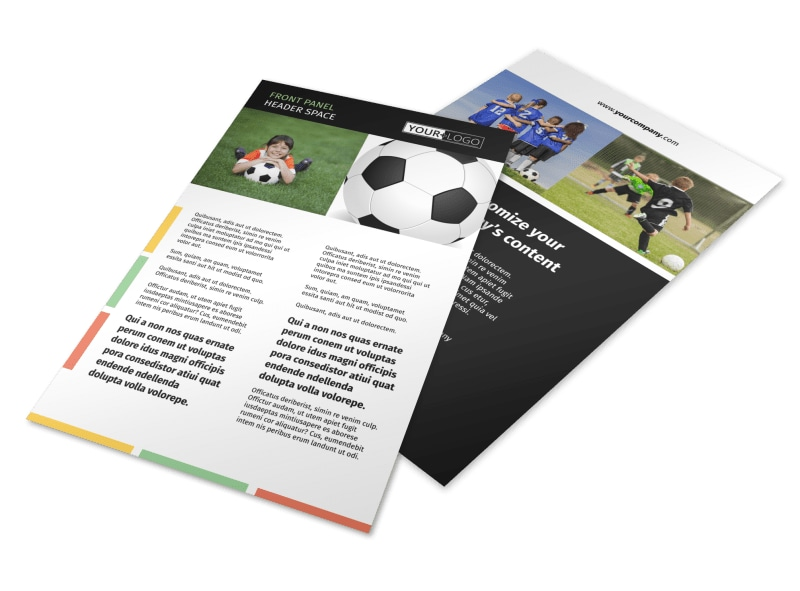 Soccer Sports Camp Flyer Template 3