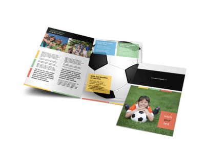 Soccer Sports Camp Bi-Fold Brochure Template