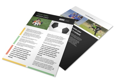 Soccer Sports Camp Flyer Template
