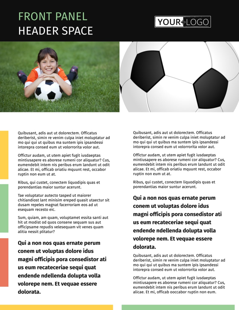 Soccer Camp Flyer Template Preview 2