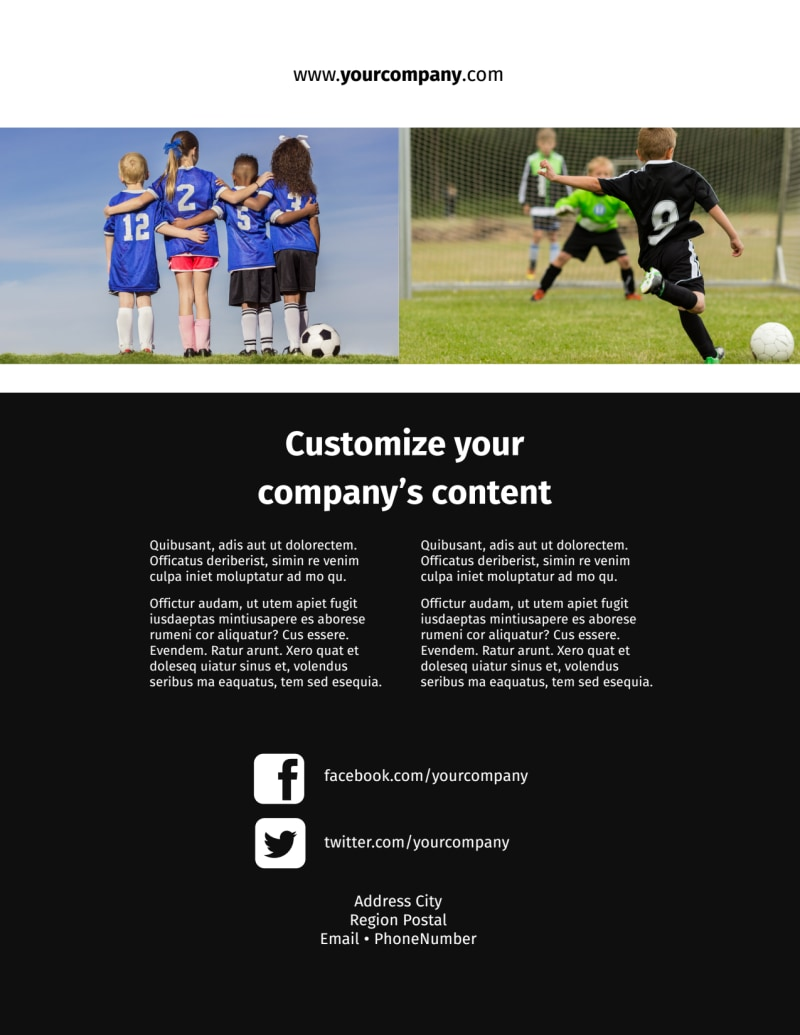 Soccer Camp Flyer Template Preview 3